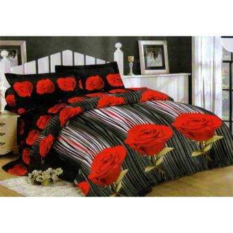Sprei Lady Rose 160x200 Queen Motif Romantic Rose