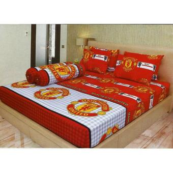 Sprei Lady Rose 160X200 Queen Terlaris MU / Manchester United