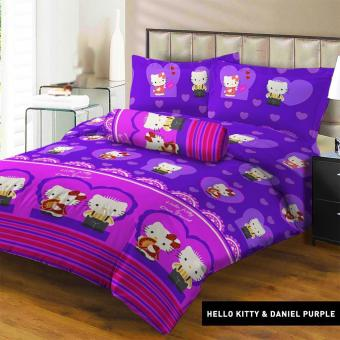 Harga Terbaru Sprei Lady Rose 180X200 King Terlaris New Kitty & Daniel Purple