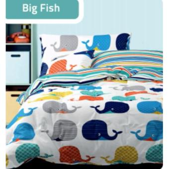 Sprei Nova Linen motif BIG FISH ukuran 120x200 Single Size