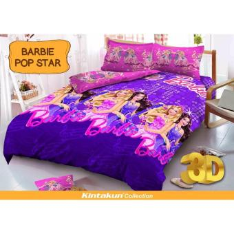 Sprei Queen Kintakun 3D Santika Deluxe / D'luxe Barbie Pop Star
