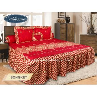 Sprei Rumbai King California motif Songket