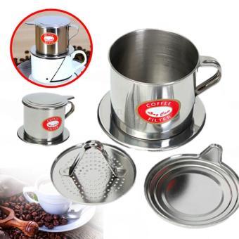Stainless Steel cangkir Filter Drip kopi pembuat pegangan Infuser -International