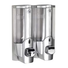 StarHome Dispenser Sabun Cair 2 in 1 with Key Lock - Tempat Sabun Cair 2 in 1 - Silver