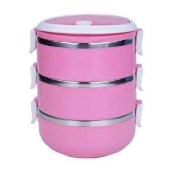 StarHome Rantang 3 Susun - Kotak Makan Stainless Steel - Lunch Box2100 ml Glossy