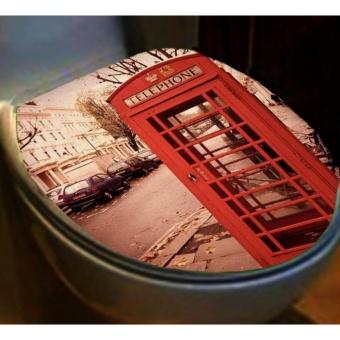 Detail Gambar Sticker Closet Toilet Seri Natural Gratis 1 Sticker toilet London dan Variasi Modelnya