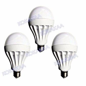 Sunfree Bohlam LED Bulb Cool White 15 Watt Bundle 3 Pcs