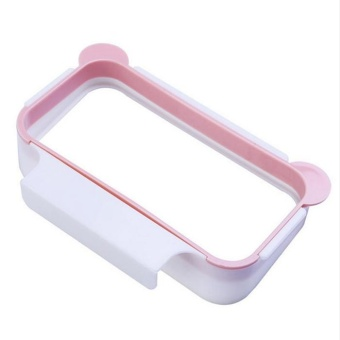 Tanbaby Pink Cute Kitchen Cupboard Door Back Style Bracket TrashGarbage Bag Hook Type Garbage Bag Storage Rack Shelf - intl