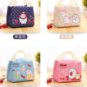 Tas Bekal Lunch bag Cooler bag (bonus 2pcs jelly ice cooler)