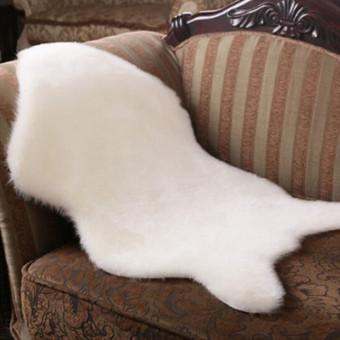 Terbuat Dari Kulit Domba Yang Lembut Bulu Halus Kulit Buatan Sederhana Area Karpet Dicuci Tikar Karpet