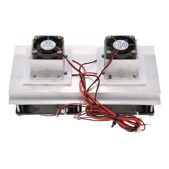 ... Termoelektrik Peltier refrigerasi sistem pendingin Radiator pendingin peralatan semikonduktor besar dingin konduksi modul penggemar ganda -