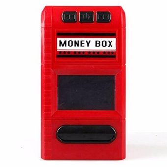 The Money Box Looks Like A Shredder - Celengan Penghancur Merah