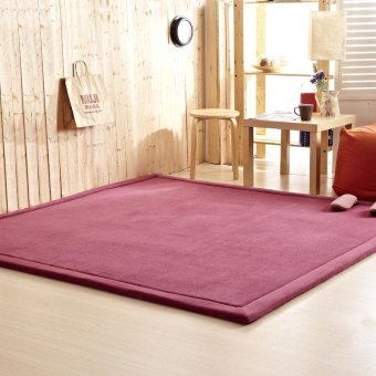 Thick Coral Fleece Tatami Tea Table Mat Carpets Bedroom Carpet Rectangle Living Room Rug Baby Crawling Carpet 50X100X2.5CM - intl