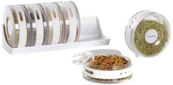 Tokokadounik Silinder Spice Rack - Rak Bumbu 6 Pcs