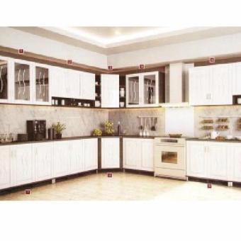2 Topix Kitchen Set Cabinet Atas Bawah 3 Pintu Rak Bumbu Putih TPX513 .