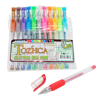 Tozhca Pen Warna MS-TZ-001-GP 12PCS Glitter Gel Pen