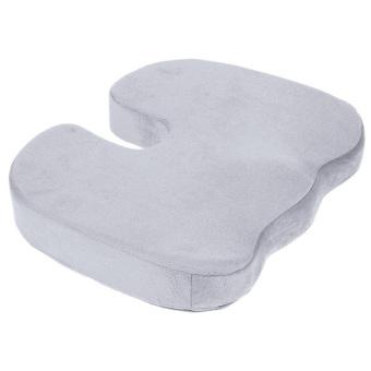 Tulang sulbi ortopedi memori busa bantal kursi untuk kursi mobil kantor rumah abu-abu