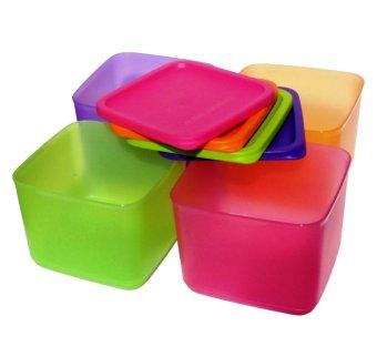 Tupperware Medium Summer Fresh Wadah Tempat Makan - Pink-Orange-Hijau-Ungu · >>>>