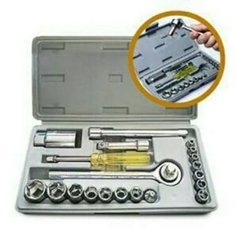 Universal Kunci Socket Wrench Pas Sok Shock Sock Set 21 Pcs
