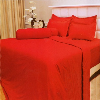 Vallery Quincy Sprei King 180x200x30 cm Warna Red