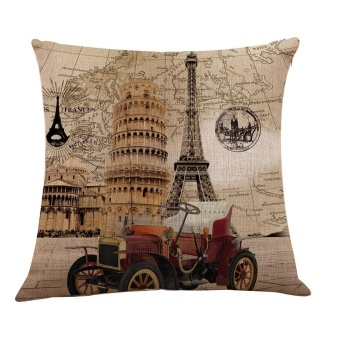 Vintage Linen Cotton Fashion Throw Pillow Case Cushion Cover HomeSofa Decor - intl