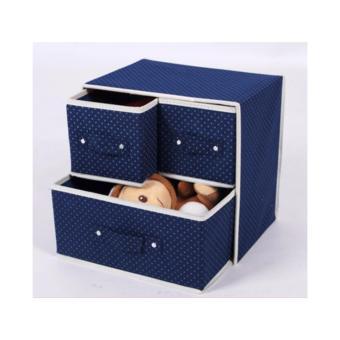 Wakuwaku - Multipurpose Foldable Triple Drawer Organizer StorageBox - 2