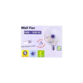 WALL FAN / KIPAS ANGIN DINDING REMOTE KAW 1689 RC