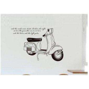 Wallsticker Stiker Dinding JM7161 60x90 - Hitam