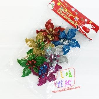 Warna gaun Natal rotan Natal bunga
