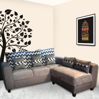 Wellington's Sofa L Agatha Minimalis - Hitam Abu