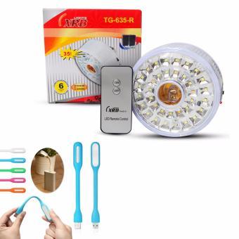 XRB Lampu Emergency Fitting TG-635-R - 35 LED + Gratis Lampu Baca