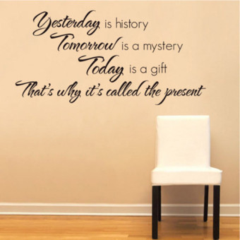 Yesterday Is History Art Quote Wall Sticker Decal Mural Home Decor Vinyl