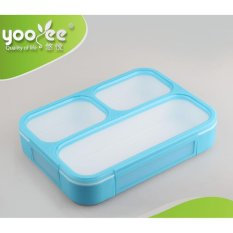 Yooyee Kotak Makan Grid Bento Lunch Box 3 Sekat Anti Bocor