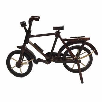 harga Zell Miniatur Kayu Sepeda Onthel Kuno - Coklat Lazada.co.id