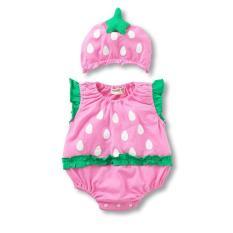 Rp 146.000 2 Pcs/set Baby Boys Girls Jumpsuit Bayi Kostum Kartun Buah Strawberry .