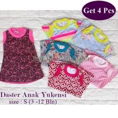 4 Pcs Daster Anak Yukesi 3-12 Bulan Aneka Motif Baju Anak Perempuan