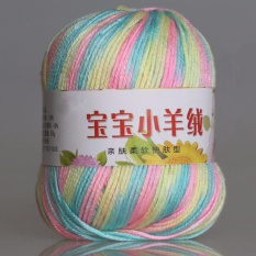 50g Soft Milk Cotton Rajutan Benang untuk Knitting Crochet Craft Pink Grey Biru Kuning Putih Grey Orange Ungu-Intl