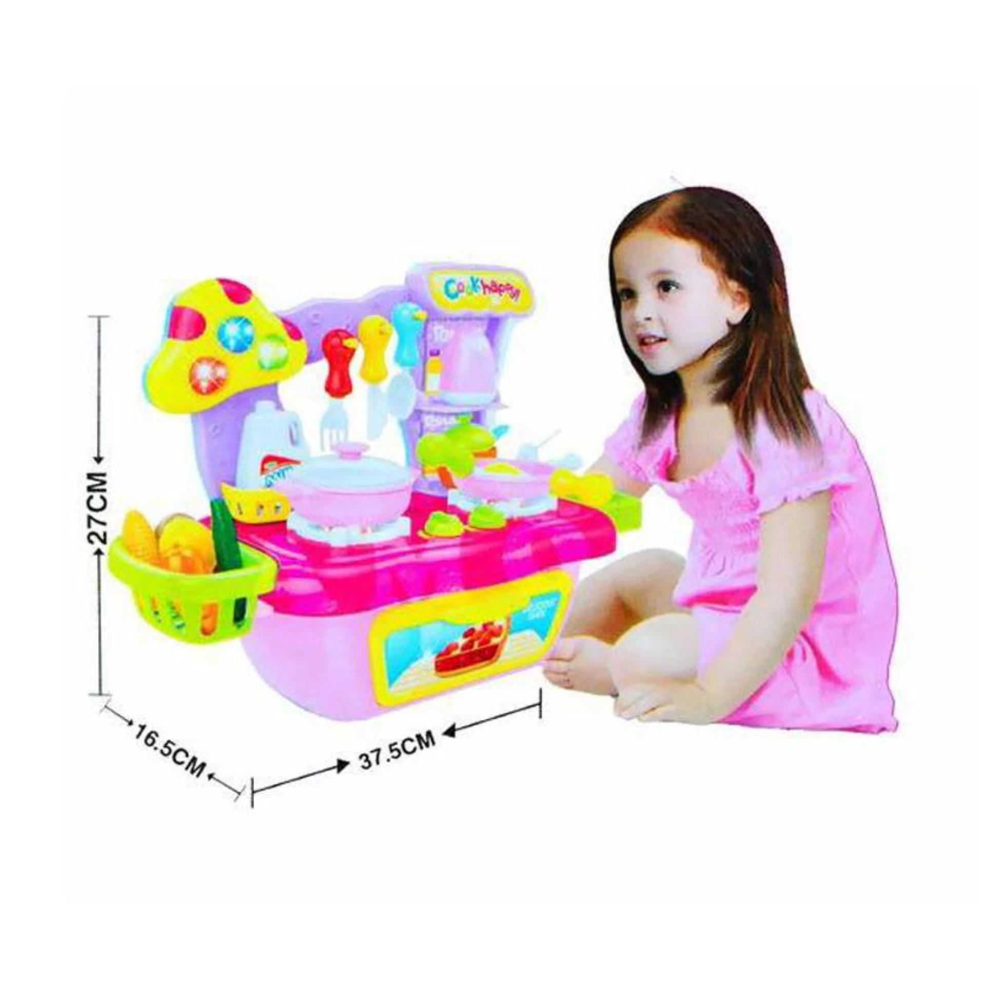 ... AA Toys Cook Fun Kitchen Set Portable Pink - Mainan Anak Masak Masakan ...