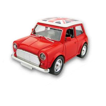 AA Toys Mainan Miniatur Mobil Classical Mini Morris Merah - Mainan Mobil Pull Back