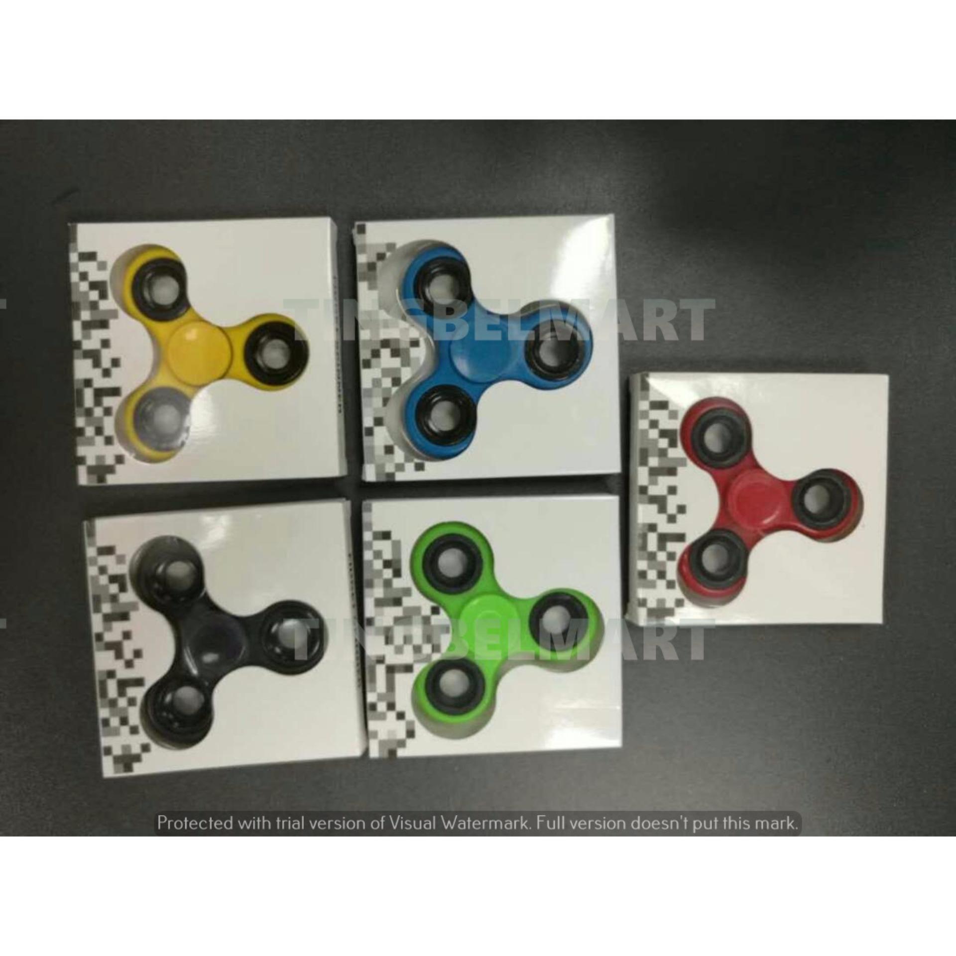 Adamsbell Fidget Spinner Hand Toys Mainan Tri-Spinner EDC Ceramic Ball Focus .
