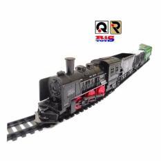 AHS Kereta Api  Train Rail King  Mainan Anak Kereta Api Lampu - Black