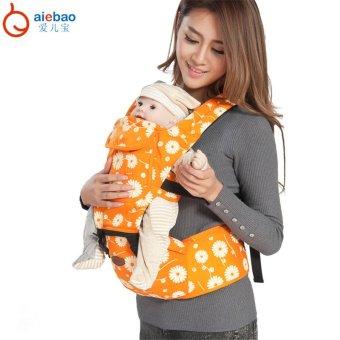 AIEBAO Baby Carrier Waist Belt Infant Hip Seat(Orange) - intl