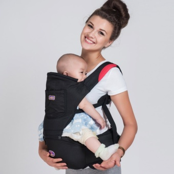AIEBAO Baby Hipseat Breathable Infant Kangaroo Baby Bag ErgonomicBaby Carrier 360 Portable Cotton Hip Seat(Black) - intl