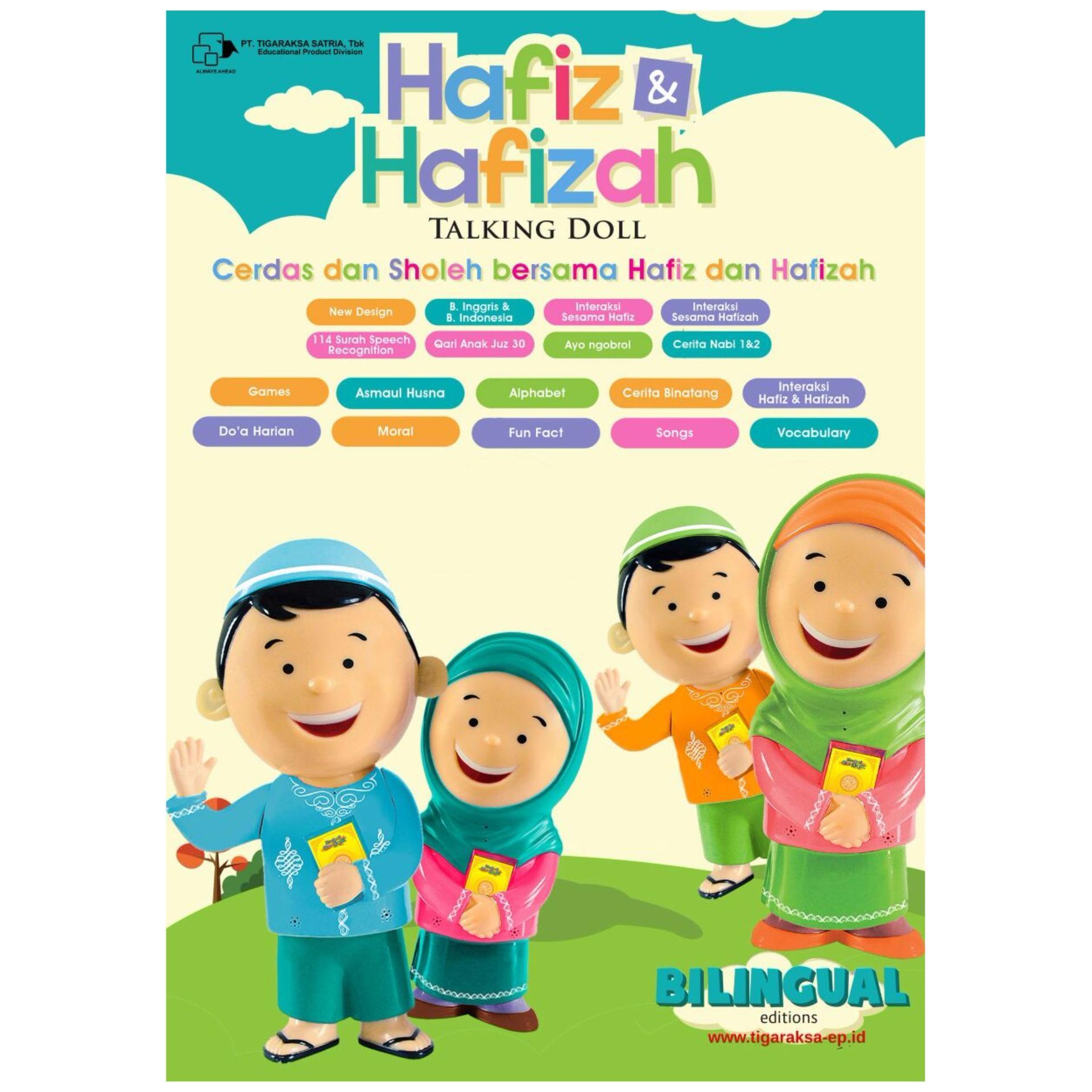 ... Al Qolam - Hafiz & Hafizah Talking Doll - Boneka Bisa Mengaji dan Berbicara (Sepasang ...