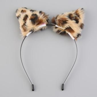 HARGA Allwin untuk pesta lucu kucing bulu panjang telinga rubah Anime rambut kostum Neko bando Cosplay macan tutul TERBAIK