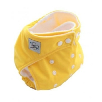 Amart Baby Nappy Cloth Adjustable Diapers Soft Covers Diaper Yellow - intl