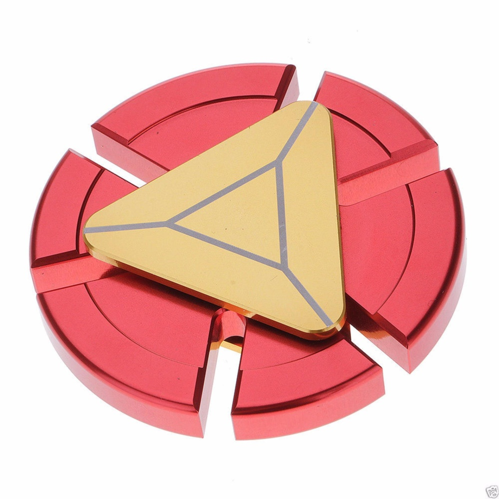 Angel Fidget Hand Spinner Premium Rainbow Chrome 3 Segi Mainan Anti Sohoku Stress Model Batman Iron Man Merah Gold