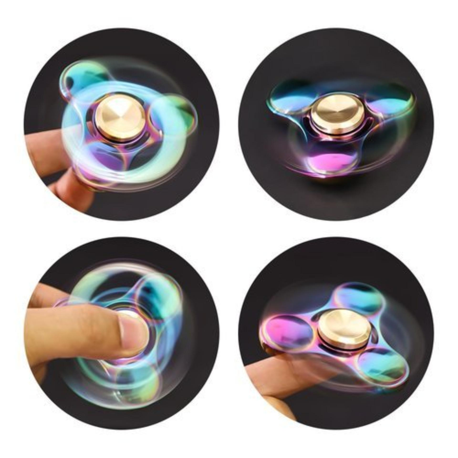 Hlj Spinner Fidget Rainbow Colorfull Edc Toy Hand Sohoku Mainan Anti Stress Model Batman Askey Premium Iridescent Series Limited Edition