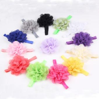 Baby Girls Big Flower Headband Newborn Hair Band - intl