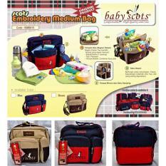 Baby Scots Embroidery Medium Bag CODE : ISMB015 - Tas Bayi Baby Scots - MEDIUM